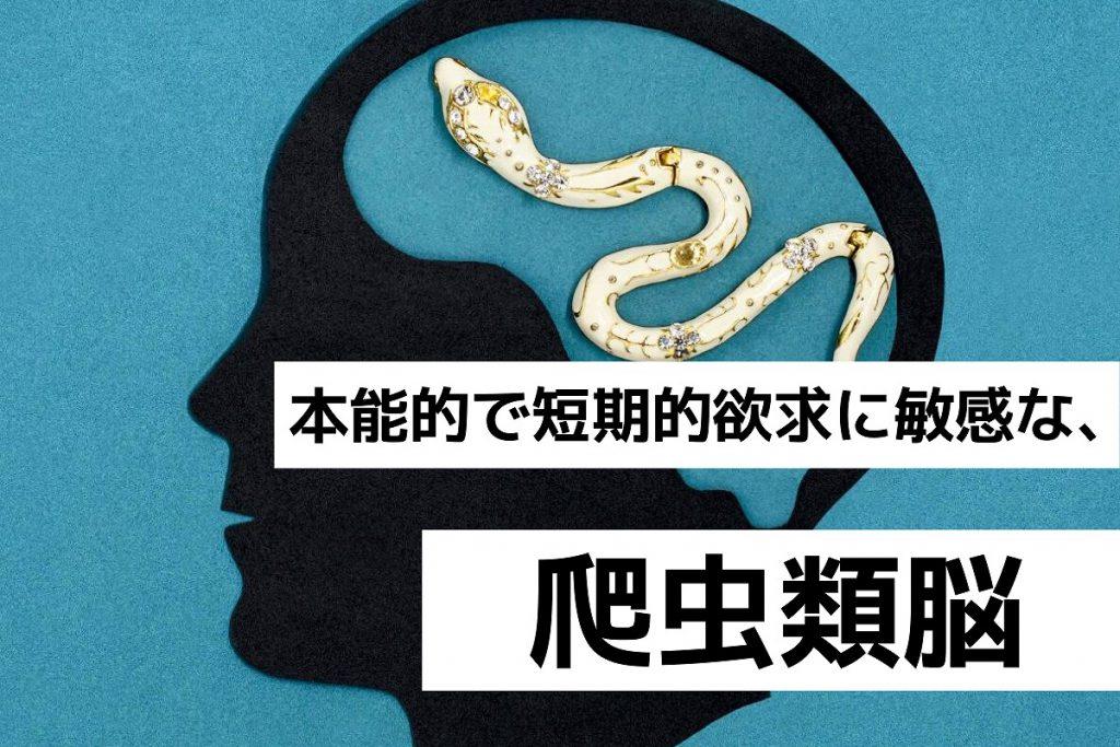 本能的で短期的欲求に敏感な、爬虫類脳